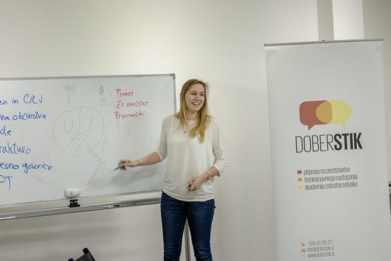 Priprava na nastop z Nino Dušić Hren, Dober stik