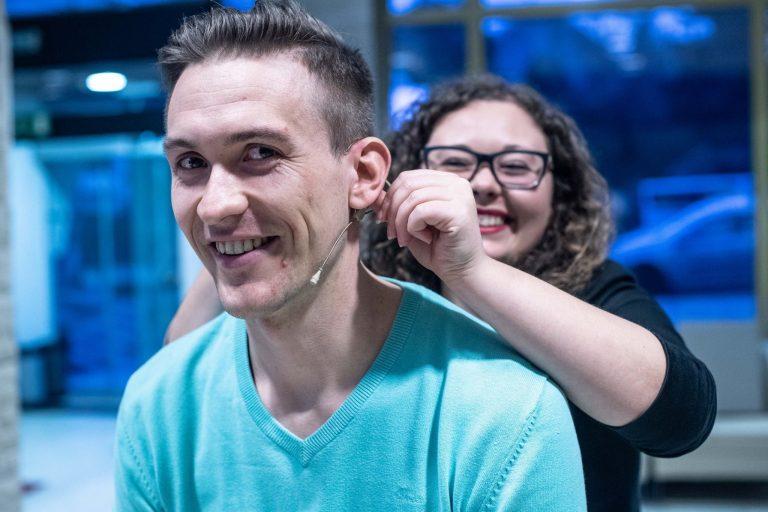 Primož Cigler, individualna priprava na nastop z Nino Dušić Hren
